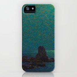 Granville Redmond Catalina Island Coast Under a Moonlit Sky Oil Painting Vintage American Art iPhone Case