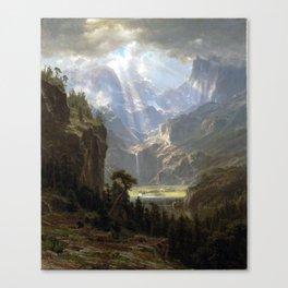 Albert Bierstadt Rocky Mountains, Lander's Peak Canvas Print