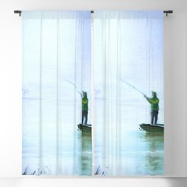 Fishing For Bass Blackout Curtain