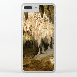 341 - Abstract cave design Clear iPhone Case