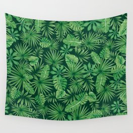 Tropical Floral Botanical Jungle Leaf Plants Nature Pattern Wall Tapestry
