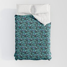 Isis Blue Feather Pattern Duvet Cover