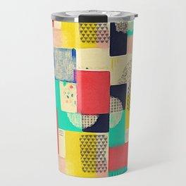 Blocky Pastel Travel Mug
