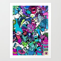 Flash! Art Print
