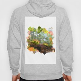 Beautiful abstract painted rain forest moss Hoody