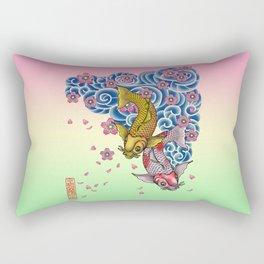 tattoo carps Rectangular Pillow