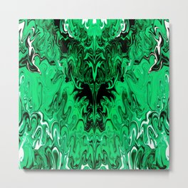 SymmetriGreen Metal Print