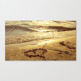 Love sandbeach Canvas Print