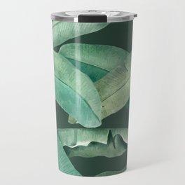 banana leaves dark green Travel Mug