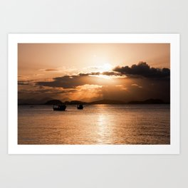 Sunset In Southern Brazil Art Print