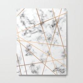 Marble Geometry 051 Metal Print