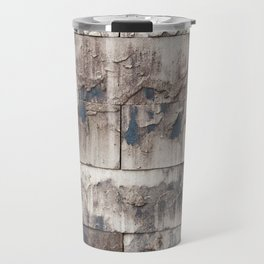 wall from modern eco stones recycling material Travel Mug
