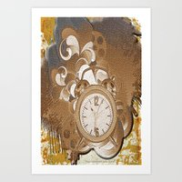 Time Clock Art Print