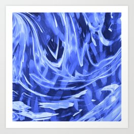 Floating In A Sea Of Blue Art Print