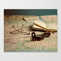 maps Canvas Prints featuring Maps by Sciuridae