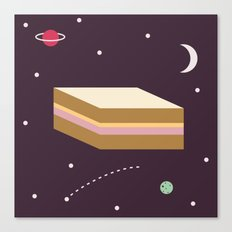 Ham & Cheese in Space Canvas Print