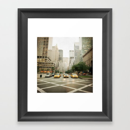 Pick A Cab Framed Art Print