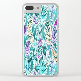 FEATHER DANCE Clear iPhone Case
