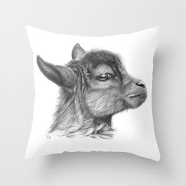 Goat baby G099 Throw Pillow