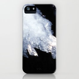 Watercolor Rock, Lechuguilla Cave 18, New Mexico, The Crystal Hand iPhone Case