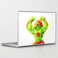 street fighter Laptop & iPad Skins featuring Street Fighter II - Blanka by Carlo Spaziani