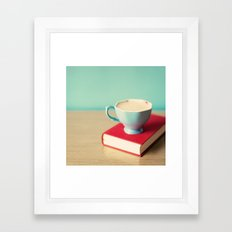 Coffee Reading Framed Art Print