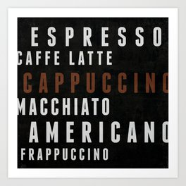 Coffee 02 Art Print