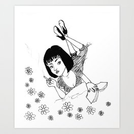 Chilling with Mia Wallace  Art Print