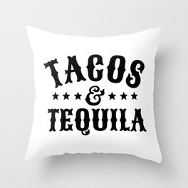 Tacos & Tequila Throw Pillow