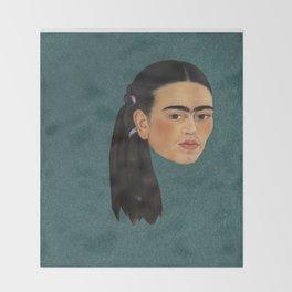 Frida Kahlo Self Portrait Throw Blanket