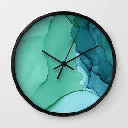 Sea Ink Wall Clock