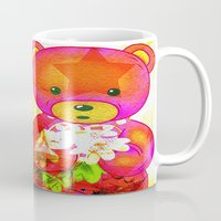 arnold Mugs featuring Arnold celebrates Christmas by shiva camille