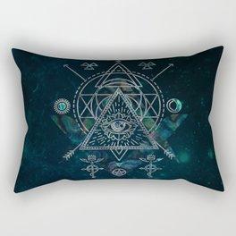 Mystical Sacred Geometry Ornament Rectangular Pillow