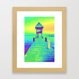 Colorful Dock In Mexico Framed Art Print