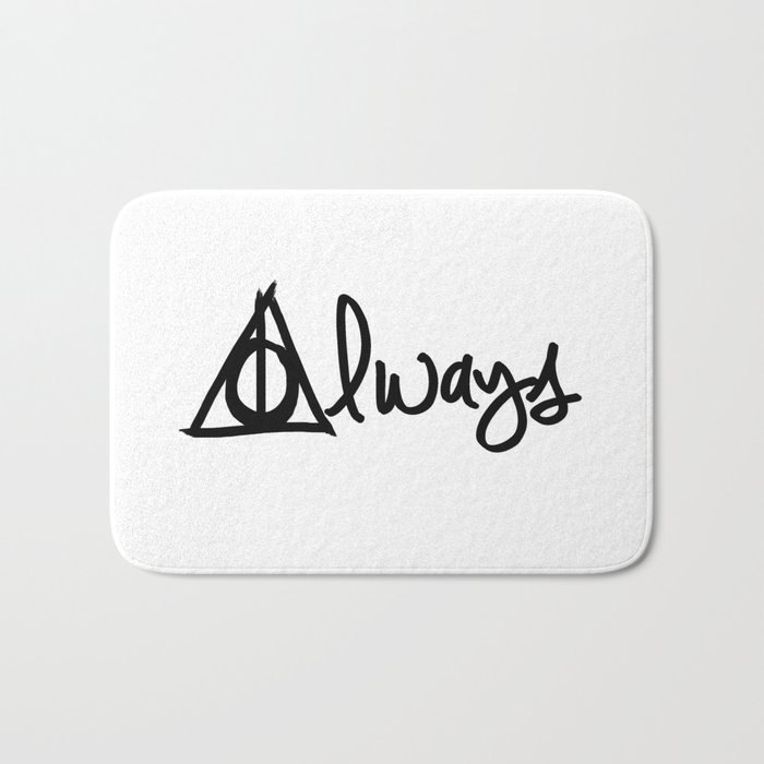 Always Deathly Hallows Harry Potter Bath Mat By Beckiboos Society6