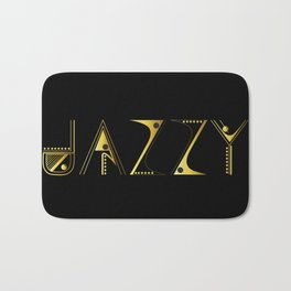 Jazzy Letterform Bath Mat