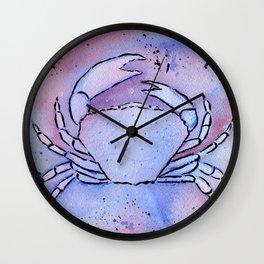 Crab Watercolor Mixed Media Art Wall Clock