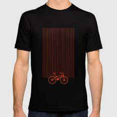 Red Bike by Friztin MEDIUM Black Mens Fitted Tee