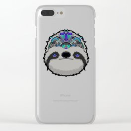 Sloth Thoughts Clear iPhone Case