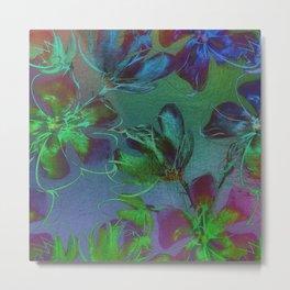 Jewel Toned Flowers Metal Print