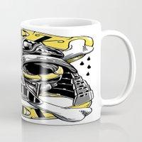 dark side Mugs featuring dark side by Vincent Trinidad