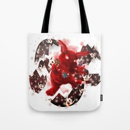 'You Cracked the Egg' Series - Easter Evil Bunny Tote Bag