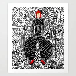 Heroes Fashion 6 Art Print