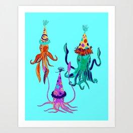 Party Squids Art Print