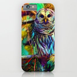 Barred Owl - As Deep as Forever iPhone Case