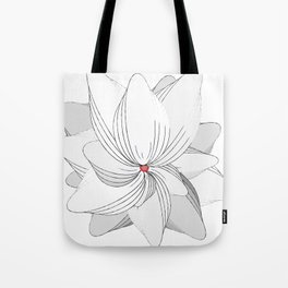 The Flower of my Heart Tote Bag