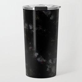 black marble abstract painting Travel Mug