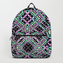 Geometric pattern.Cell oblique .  1 Backpack