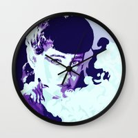 blade runner Wall Clocks featuring RACHAEL // BLADE RUNNER by mergedvisible