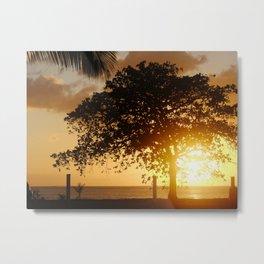 Sunset at Rincon Metal Print